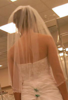 Here's the back of the fantastic bride's wedding gown