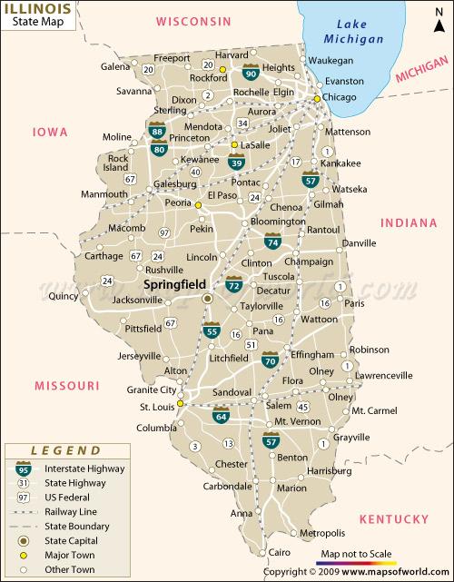 Basic Map Of Illinois